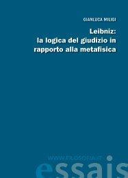 Leibniz: la logica del giudizio in rapporto alla metafisica ... - Filosofia.it