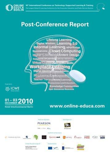 Post-Conference Report - Online Educa Berlin