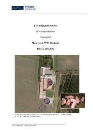 11 miljøgodkendelse, Mosevej 4 - Struer kommune