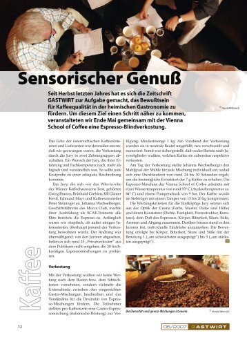 Sensorischer Genuß - Kaffee Kompetenz Zentrum