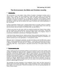 The Environment, the Bible and Christian morality - Anglican Church ...