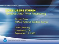 CORS USERS FORUM Towards Real-Time Positioning - National ...