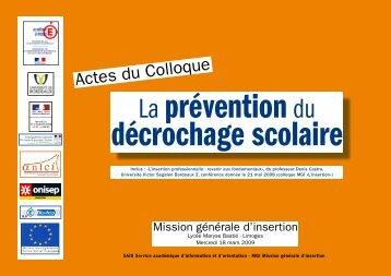 Actes du Colloque - Académie de Limoges