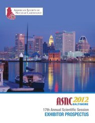 ASNC2012 Exhibitor Prospectus - American Society of Nuclear ...