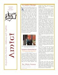 AMICI - Vol 9 Issue 2, June 2007 - The Augustinians in Australia