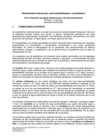 PROPIEDADES FISICAS DEL AGUA ... - Universidad de Chile