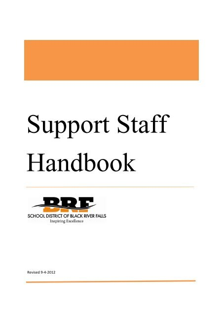 support staff handbook v 1 1 school district of black river falls