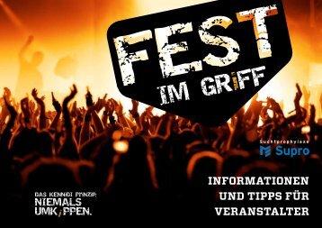 """""""Fest im Griff"""" Informationen und Tipps für Veranstalter - KENNiDI"""