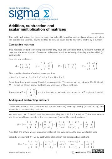 Matrix Multiplication Worksheet Matrix Multiplication Kuta Software