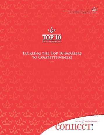 The Top 10 Barriers to Competitiveness - Canadian Chamber of ...