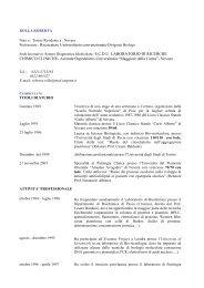 Dott.ssa Roberta Rolla - Università del Piemonte Orientale