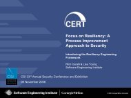 A Process-Oriented Approach to Security Management - Cert