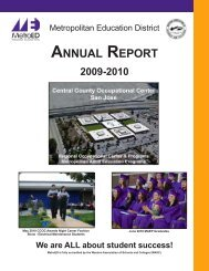 2009-2010 Annual Report - Metropolitan Education District