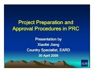 Project Preparation and Approval Procedures in PRC, Xiaofei Jiang ...