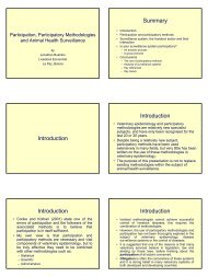 Participatory methodologies - Caribvet