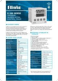 E-200 Serisi Üniversal Gelişmiş Sayısal Kontrol Cihazı - Elimko
