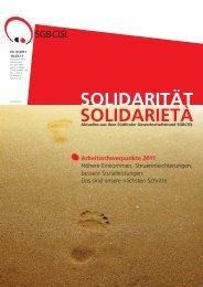 Arbeitsschwerpunkte 2011 - SGB - CISL