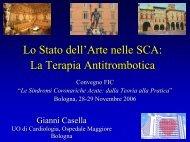 Casella G. - Terapia Antitrombotica nelle SCA - Anmco