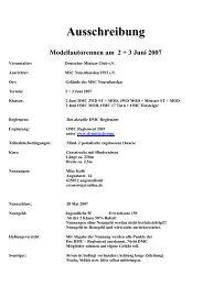 Ausschreibung Modellautorennen am 2 + 3 Juni 2007 - SK-Mitte