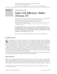 Solar cell efficiency tables (version 27) - ResearchGate