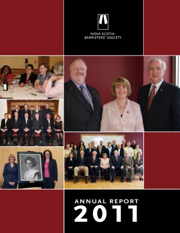 2011 NSBS Annual Report - Nova Scotia Barristers' Society