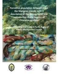Parrotfish population dynamics from the Marianas Islands ... - NODC
