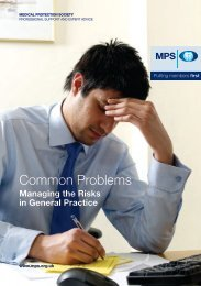 Common problems in General Practice - Medical Protection Society