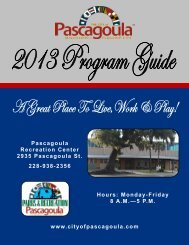 Program and Activities Guide - City of Pascagoula