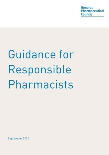 Guidance for Responsible Pharmacists - General Pharmaceutical ...
