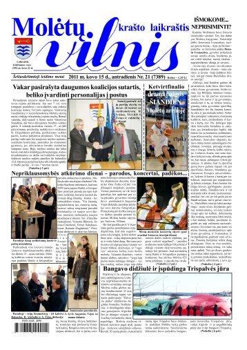 2011 m. kovo 15 d., antradienis Nr.21 - 2013 - VILNIS