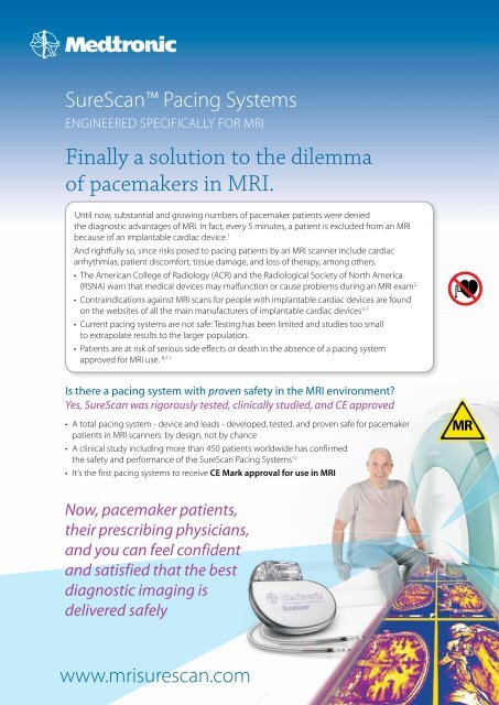 Finally a solution to the dilemma of pacemakers in MRI  - Medtronic