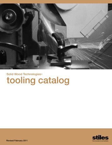 tooling catalog - Stiles Machinery