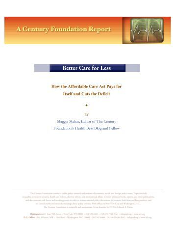 Better Care For Less - The Century Foundation