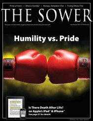 Humility vs. Pride - Spirit & Truth Fellowship International