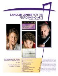 Merchant of Venice SG.indd - Sandler Center for the Performing Arts