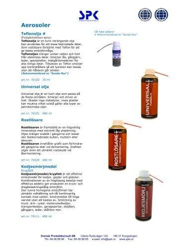 Aerosoler - Svensk Produktkonsult AB
