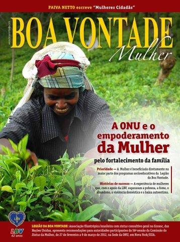 Revista BOA VONTADE Mulher em português