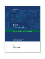 Living Standards - YWCA Canada