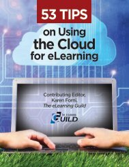 on Using the Cloud for eLearning - CEdMA