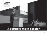 abstracts main session - MEET CONGRESS