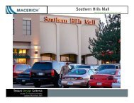 Southern Hills Mall Food Court Criteria - Macerich