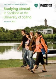 Studying abroad in Scotland at the University of ... - Study in the UK