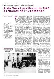 """E da Terni partirono in 300 arruolati nel """"Cremona"""" - Anpi"""
