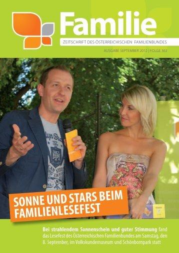 Zeitschrift Familie, Ausgabe September 2012 [PDF 1 ... - Familienbund