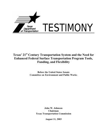 Johnny Johnson - U.S. Senate Environment and Public Works ...