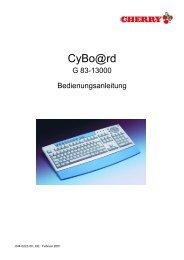 G 83-13000 Bedienungsanleitung - Cherry