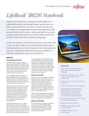 LifeBook® B6210 Notebook - Computerworld