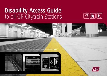 Disability Access Guide to all QR Citytrain Stations - Queensland Rail