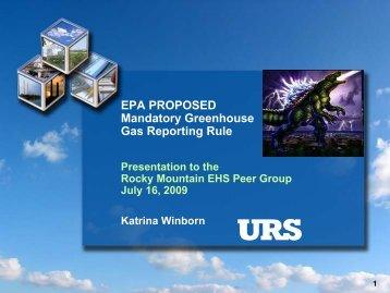 EPA Proposed Mandatory Greenhouse Gas Rule - Rmehspg.org