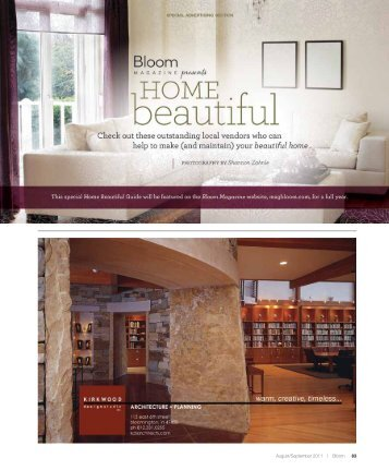Special advertising section - Bloom Magazine